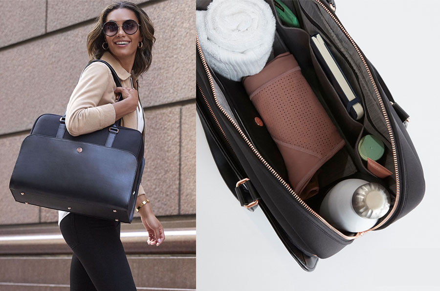 Guess City Workbag Double Compartmen Briefcase Men Black