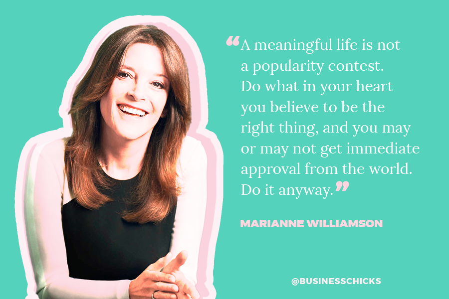 10 Marianne Williamson quotes to make today a better day