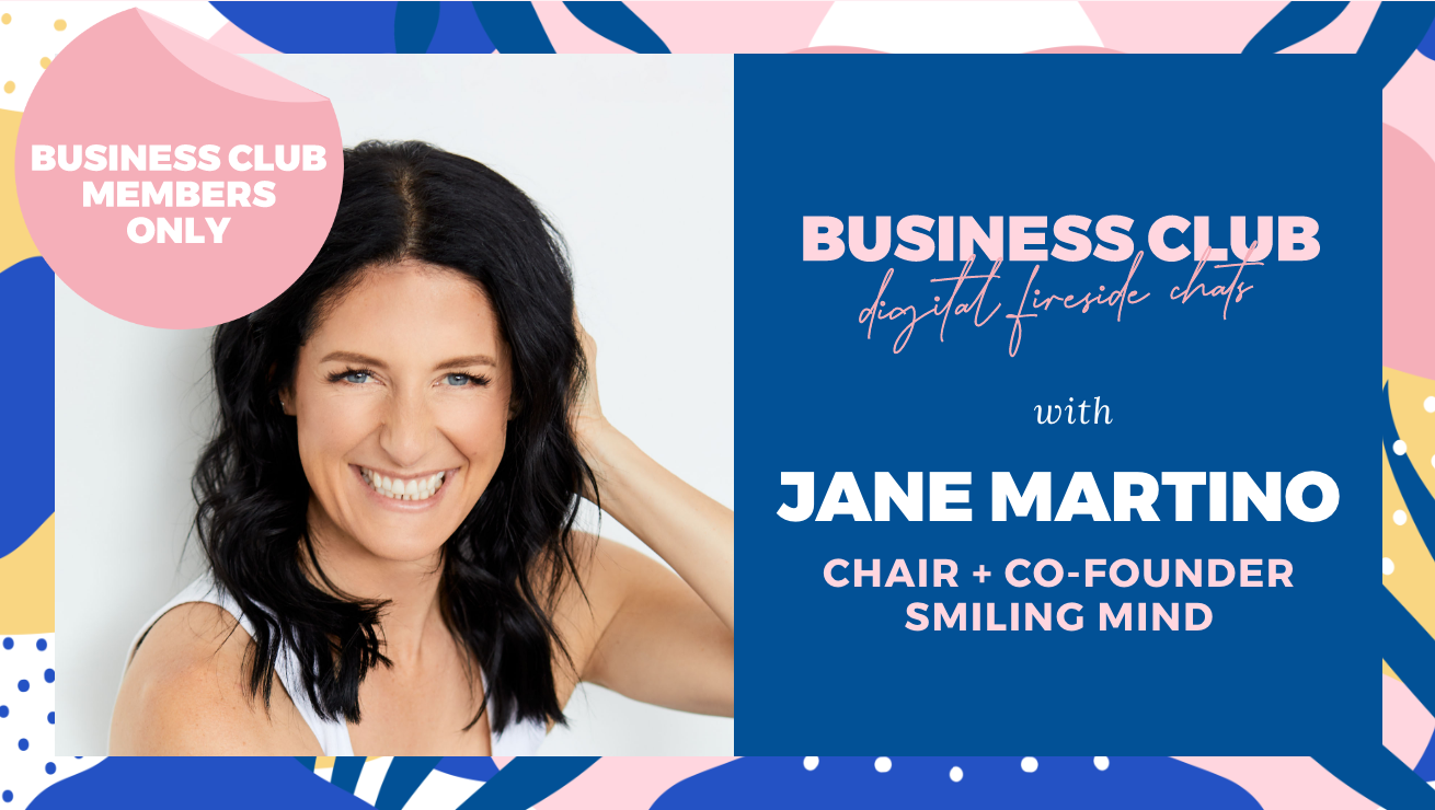 Business Club Members: Digital Fireside Chat with Jane Martino