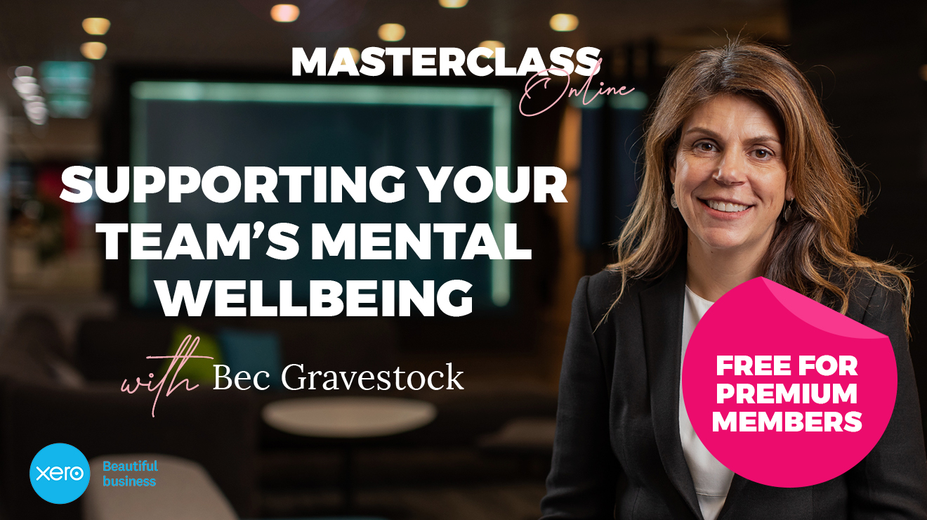 Masterclass: Supporting your team's mental wellbeing