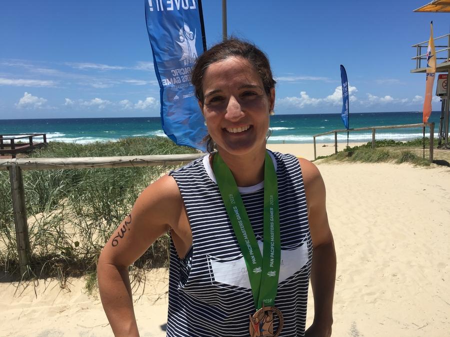 Lauren Tischendorf's about to break a 34km ocean swim record