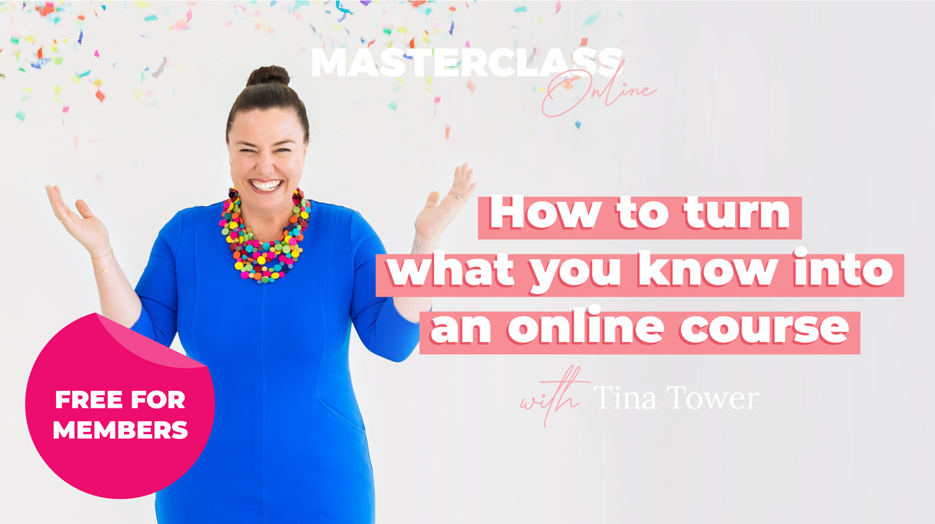 Masterclass: How to turn what you know into an online course